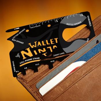 Cartão Ninja com 18 ferramentas