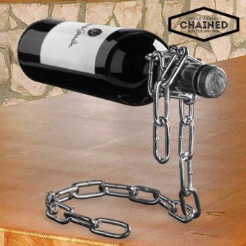 Suporte mágico para garrafa de vinho